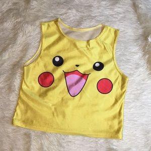 Tops - Pikachu Crop Top